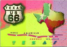 Fun Times on Route 66 Texas US 66 Map Vega Amarillo Conway Unposted Postcard D9