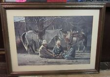 Ray Swanson Limited Edition Framed/Matted Print Chatting at Chilchinbitoh w/COA