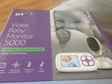 Video Baby Monitor 5000 BT With Remote Controlled Pan And Tilt. 2.8 Inch Screen
