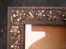 c1870 Excellent VICTORIAN AESTHETIC COPPER Compo FLORAL ARTS CRAFTS Antique Frme