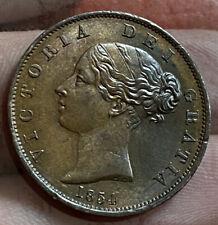 Victoria 1/2 Penny 1854 Grade AUNC