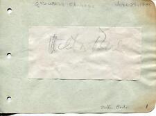 MILTON BERLE COMEDIAN & JIMMIE FIDLER SIGNED PAGE AUTOGRAPH