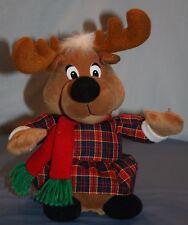 "Singing Reindeer Beverly Hills Teddy Bear Co 12"" Christmas Jingle Bells Plush"