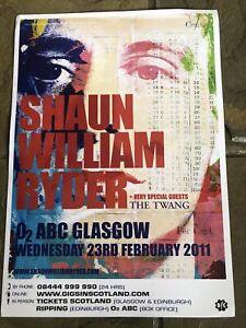 Shaun William Ryder - The Happy Mondays - 2011 Concert/gig Poster - Glasgow