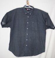 Chaps Ralph Lauren Mens Button Down Shirt X-Large XL Navy Blue