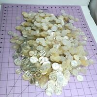 Huge Lot White, Off White, Beige, Buttons Approx 4 lbs  new & used