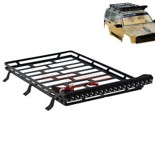 1/10 SCALE METAL Cage Roof Luggage Tray With 18 LED For RC Axial SCX10 II 90046