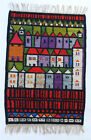 TOWN Vintage Modernist Polish Textile Wall Hanging Rug Cepelia NEW OLD STOCK