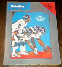 Game Day Pro! Green Bay Packers vs New York Giants November 8, 1981 Program