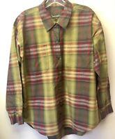 New Timberland Weathergear Women's Button Up Plaid Shirt L/S Size M Vintage?