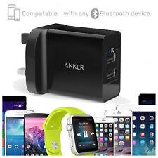 2-Port USB Wall Fast Charger PowerIQ iPhone Samsung iPad Tablet LG Anker24W