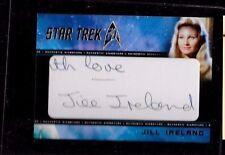Jill Ireland autograph 50th Anniversary Star Trek Cut Signature