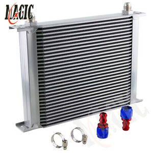 UNIVERSAL 30 ROW AN-8AN  ENGINE TRANSMISSION OIL COOLER+ AN8 FITTING / HOSE END