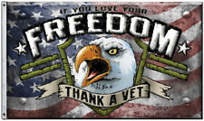 Flags Thank A Vet Flag Sflthv Freedom First Flags. 100% polyester construction.
