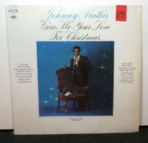 JOHNNY MATHIS GIVE ME YOUR LOVE FOR CHRISTMAS (NM) CS-9923  VINYL LP RECORD
