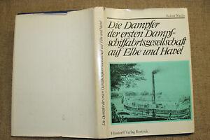 Modellbau von Dampfer Elbe & Havel, Dampfschiff, Raddampfer, Schiffbau DDR 1975