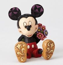 Disney Traditions Small Ornament Mickey Mouse With Flowers Mini Resin Figurine