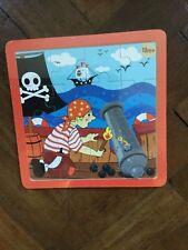 Kandytoys Wooden 16 Piece Pirate Jigsaw