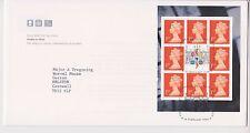 GB ROYAL MAIL FDC COVER 1999 PROFILE ON PRINT ORANGE PRESTIGE PANE BUREAU PMK