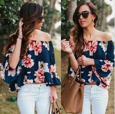 Off-shoulder Floral Top