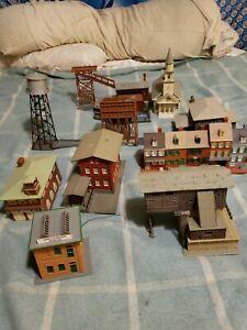 HO Lot SCALE BUILDINGS  Model railroad buildings high quality rare vintage 11