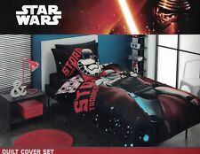 "DISNEY STAR WARS ""BLAST TROOPER"" STORM TROOPER QUILT COVER SET DOUBLE NEW"