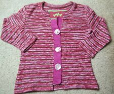 Marks And Spencer Per Una Women's Red Tweed Button Front Cardigan Sweater Cute S