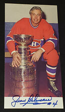 JEAN BELIVEAU MONTREAL CANADIENS NHL AUTOGRAPH HOCKEY PHOTO WITH STANLEY CUP