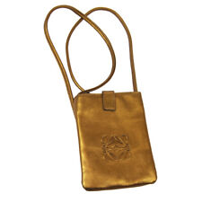 LOEWE 标识迷你迷你单肩包金青铜皮革复古 060710 o02868