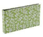 Hardback Green Leaf 15 Sheets 30 Photos Slip In Photo Album By Katz 0704G-PA
