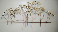 Mid Century Modern Curtis Jere Mixed Metal Elm Tree Wall Sculpture ~ Modernist