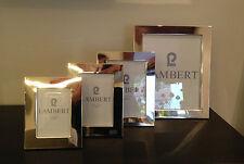 Lambert Savannah Bilderrahmen Messing versilbert für Foto 13x18cm Gr.L NEU