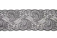 PASSAMANERIA PIZZO TRAMEZZO di RASCHEL ELASTICO ALTO 9cm SWEET TRIMS ART. 1840