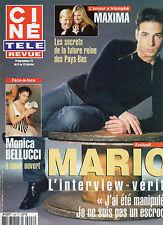 CINE REVUE 2002 N°6 mario monica bellucci maxima tom cruise franck provost