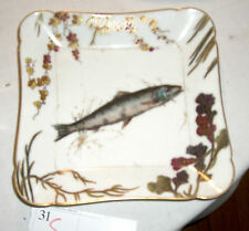 Antique Haviland Limoges porcelain   Fish Dish CH Fields square