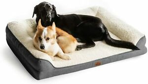 Orthopedic Dog Bed Large - Memory Foam Dog Sofa Bed Couch with Removable Washabl