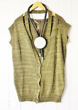 CORA Kemperman Designer GILET- Pull gr. S SUPERPOSITION extra-large boue