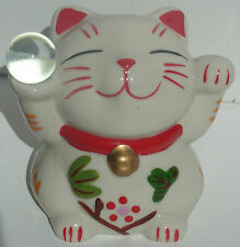 CUTE CAT MONEY BOX PIGGY BANK LUCKY MONEY CAT BNIB CERAMIC FENG SHUI