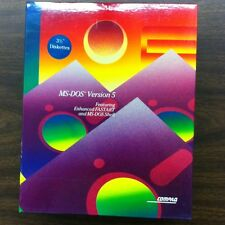 "MS-DOS Version 5, 3.5"" Diskettes New, In Box P/N 133068-001"