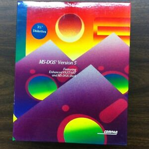 """MS-DOS Version 5, 3.5"""" Diskettes New, In Box P/N 133068-001"""