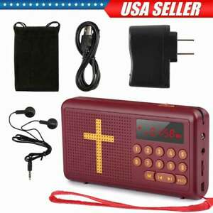 Rechargeable Audio Bible Player Electronic Talking King James Version -English09