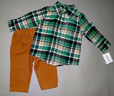 Baby boy clothes, 3T, Carter's plaid flannel shirt/matching pants/SEE DETAILS!!!