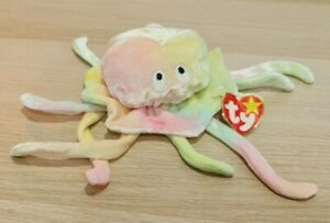 TY Original Beanie Baby Plush Toy | 1998 Goochy Octopus | RETIRED | 90s VINTAGE