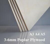 3mm 6mm Poplar Plywood - A3 A4 A5 - Superb Quality, Laser Safe
