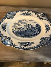 "Johnson Brothers OLD BRITAIN CASTLES BLUE 11 3/4"" Oval Serving Platter"