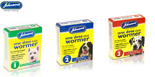 More details for johnsons one dose wormer puppy dog roundworm tapeworm worming tablets 3 sizes