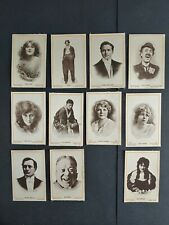 More details for 11 x themans & co cigarette silks postcards - film stars series d6