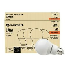 16 Pack EcoSmart 100w Equivalent A19 Non-Dimmable LED Light Bulb Soft White
