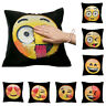 Reversible Emoji Sequin Pillow Cases Magic Cushion Covers Sofa Decorative 16x16""