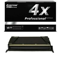 4x Pro Cartridge Black for Lexmark C-530-DN C-522-N C-532-N C-534-DN C-524-DTN